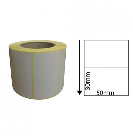 50mm x 30mm Direct Thermal Labels (1,000 Labels)