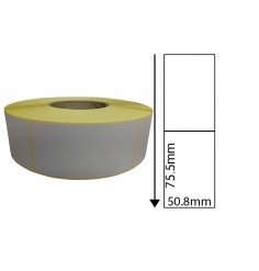 50.8mm x 75.5mm Direct Thermal Labels (1,000 Labels)