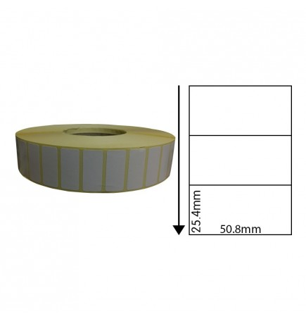 50.8mm x 25.4mm Direct Thermal Labels (1,000 Labels)