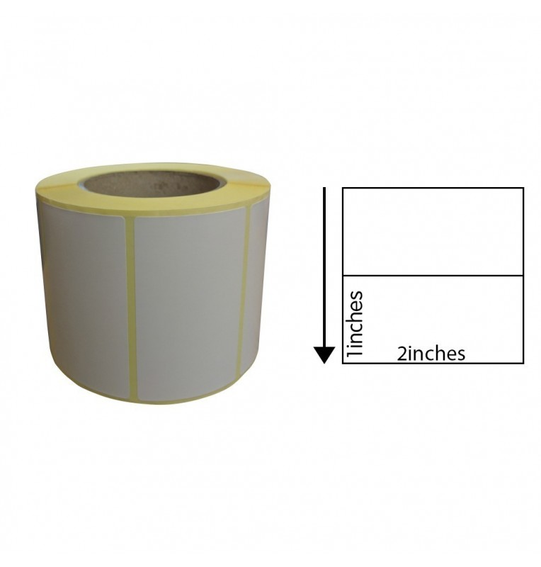 2 x 1 Inch Direct Thermal Labels (1,000 Labels)